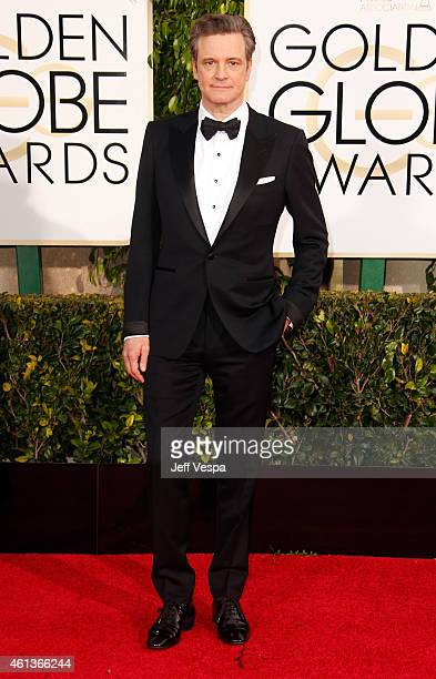 Actor Colin Firth attends the 72nd Annual Golden Globe Awards at The Beverly Hilton Hotel on January 11 2015 in Beverly Hills California