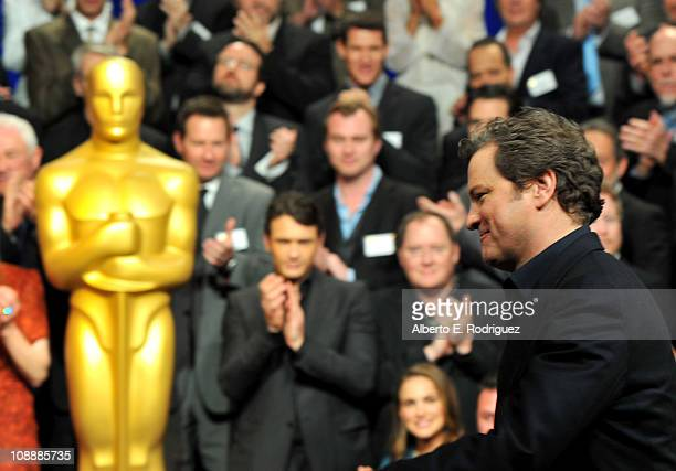 Actor Colin Firth attends the 83rd Academy Awards nominations luncheon held at the Beverly Hilton Hotel on February 7 2011 in Beverly Hills California
