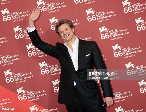 Actor Colin Firth attends the ''A Single Man'' photocall at the Palazzo del Casino during the 66th Venice Film Festival on September 11, 2009 in...