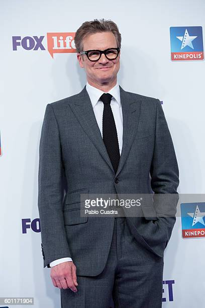 Actor Colin Firth attends the 'Bridget Jones' Baby' premiere at Kinepolis Cinema on September 9 2016 in Madrid Spain