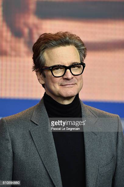 Actor Colin Firth attends the 'Genius' press conference during the 66th Berlinale International Film Festival Berlin at Grand Hyatt Hotel on February...