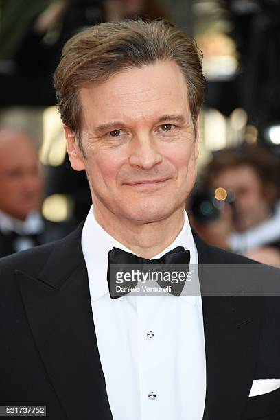 Actor Colin Firth attends the 'Loving' premiere during the 69th annual Cannes Film Festival at the Palais des Festivals on May 16 2016 in Cannes...
