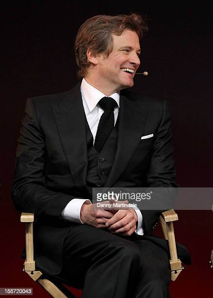 Actor Colin Firth attends the Meet The Filmmakers event for Gambit at Apple Store, Regent Street on November 7, 2012 in London, England.