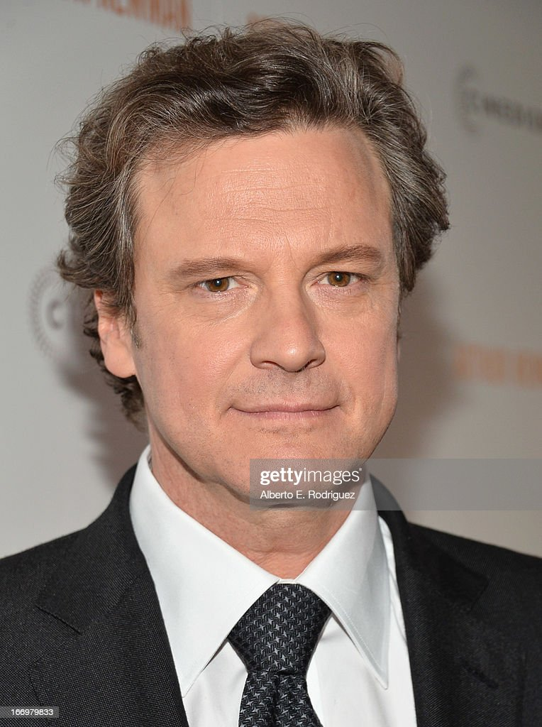 Actor Colin Firth attends the premiere of Cinedigm's 'Arthur Newman' at ArcLight Hollywood on April 18, 2013 in Hollywood, California.