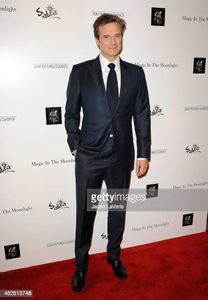 """Actor Colin Firth attends the premiere of """"Magic in the Moonlight"""" at Linwood Dunn Theater at the Pickford Center for Motion Study on July 21, 2014..."""
