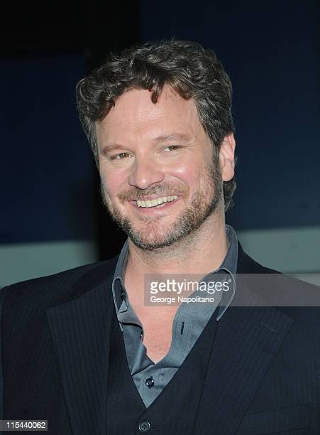 Actor Colin Firth attends the premiere of Mamma Mia at the Ziegfeld Theatre on July 16 2008 in New York City