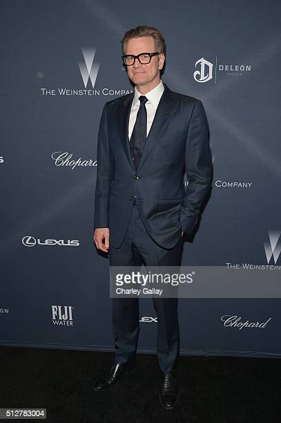 Actor Colin Firth attends The Weinstein Company's PreOscar Dinner presented in partnership with FIJI Water Chopard DeLeon and Lexus at the Montage...