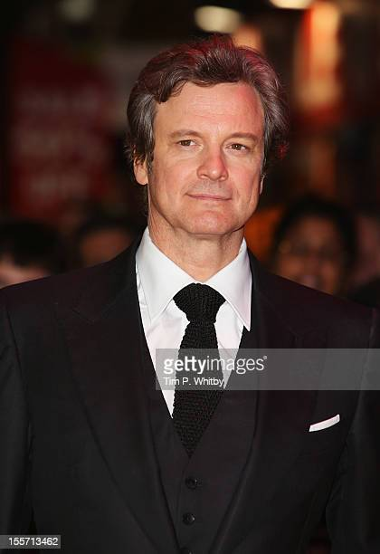 Actor Colin Firth attends the World Premiere of Gambit at Empire Leicester Square on November 7 2012 in London England