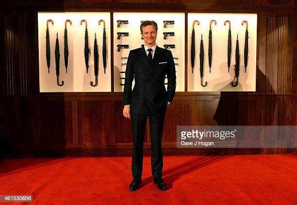 Actor Colin Firth attends the World Premiere of 'Kingsman The Secret Service' at the Odeon Leicester Square on January 14 2015 in London England