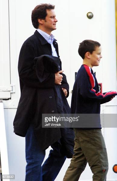 Actor Colin Firth leav...