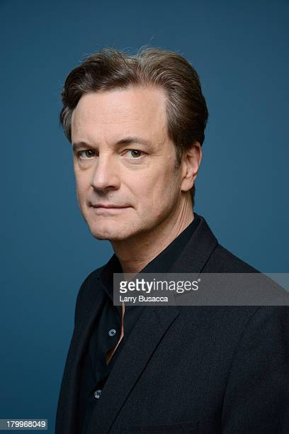 Actor Colin Firth of 'Railway Man' poses at the Guess Portrait Studio during 2013 Toronto International Film Festival on September 7 2013 in Toronto...