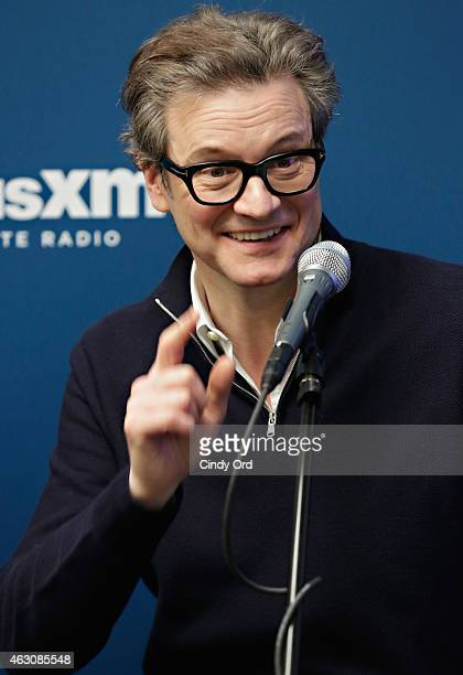 Actor Colin Firth takes part in SiriusXM's Entertainment Weekly Radio 'Kingsman The Secret Service' Special with Samuel L Jackson Colin Firth Taron...