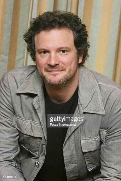 Actor Colin Firth talks at the Regent Beverly Wilshire Hotel on January 12 2006 in Los Angeles California