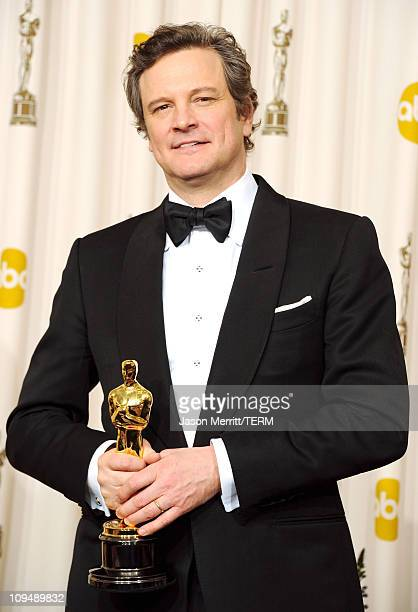 Actor Colin Firth winner of the award for Best Actor in a Leading Role for 'The King's Speech' poses in the press room during the 83rd Annual Academy...
