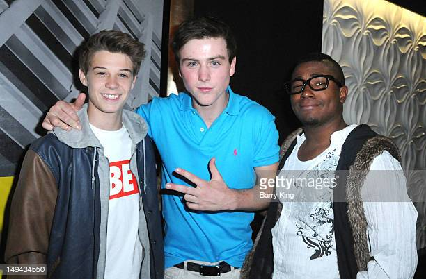 Actor Colin Ford actor Sterling Beaumon and Elijah Bue attend Sterling Beaumon's Summer Bash on July 27 2012 in Hollywood California