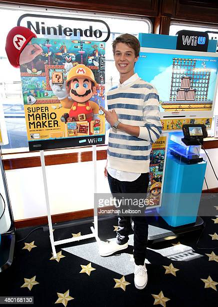 Actor Colin Ford attends The Nintendo Lounge on the TV Guide Magazine yacht during ComicCon International 2015 on July 9 2015 in San Diego California