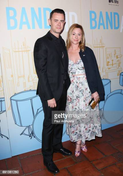 Actor Colin Hanks and wife Samantha Bryant attend the premiere of IFC Films' 'Band Aid' at The Theatre at The Ace Hotel on May 30 2017 in Los Angeles...