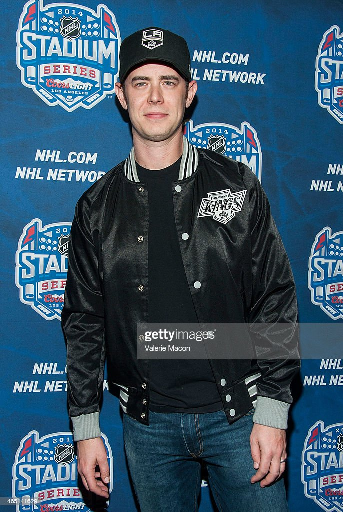 Actor Colin Hanks arrives at the 2014 Coors Light NHL Stadium Series Los Angeles at Dodger Stadium on January 25, 2014 in Los Angeles, California.