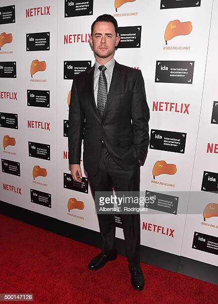 Actor Colin Hanks attends the 2015 IDA Documentary Awards at Paramount Studios on December 5 2015 in Hollywood California