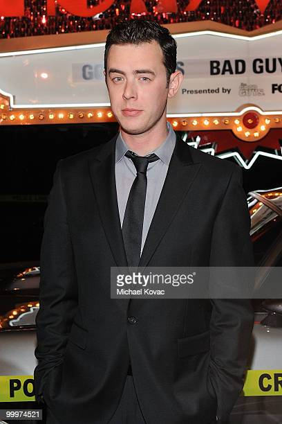 """Actor Colin Hanks attends the opening reception for """"The Good Guys, Bad Guys, Hot Cars"""" exhibition at Petersen Automotive Museum on May 18, 2010 in..."""