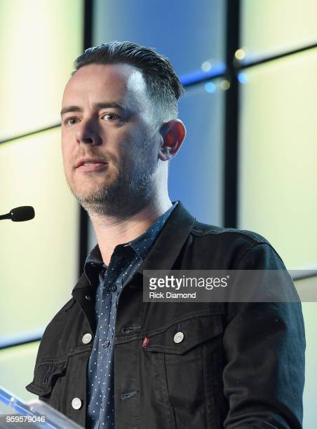 Actor Colin Hanks speaks onstage during the Music Biz 2018 Awards Luncheon for the Music Business Association on May 17 2018 in Nashville Tennessee