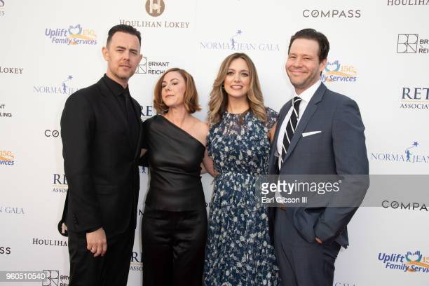 Actor Colin Hanks wife Samantha Bryant producer Erica Hanson and husband/actor Ike Barinholtz attend Uplift Family Services at Hollygrove's 7th...