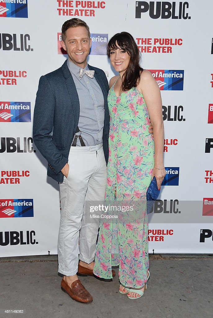 Actor Colin Hanlon (L) attends the Public Theater's 2014 Gala celebrating 'One Thrilling Combination' on June 23, 2014 in New York, United States.