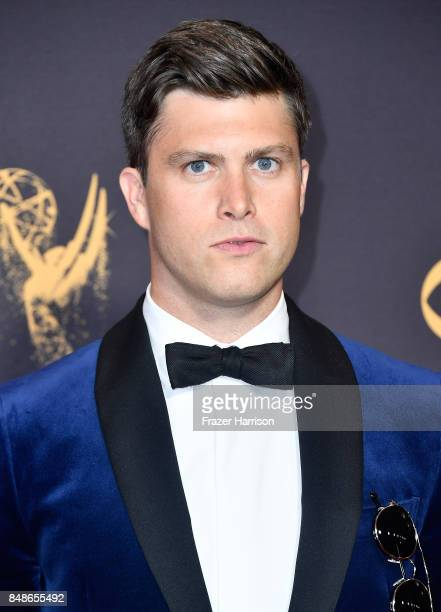 Actor Colin Jost attends the 69th Annual Primetime Emmy Awards at Microsoft Theater on September 17 2017 in Los Angeles California