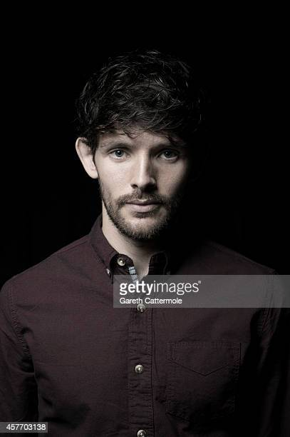 Actor Colin Morgan poses in the portrait studio at the BFI London Film Festival 2014 on October 16 2014 in London England