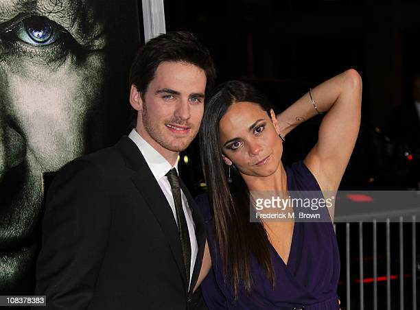 Actor Colin O' Donoghue and actress Alice Braga attend the premiere of Warner Brothers' 'The Rite' at Grauman's Chinese Theatre on January 26 2011 in...