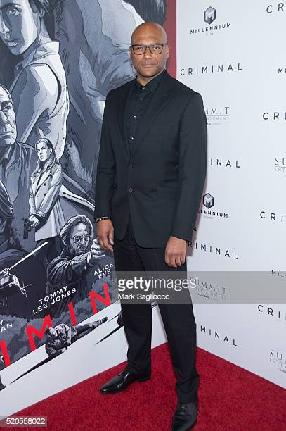 Actor Colin Salmon attends the 'Criminal' New York Premiere at AMC Loews Lincoln Square 13 theater on April 11 2016 in New York City