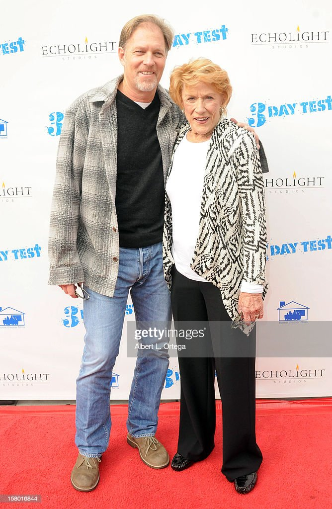Actor Collin Bernsen and actress Jeanne Cooper arrive for the the screening of '3 Day Test' held at Downtown Independent Theater on December 8, 2012 in Los Angeles, California.