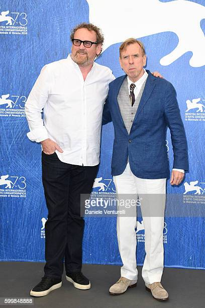 Actor Colm Meaney and actor Timothy Spall attend a photocall for 'The Journey' during the 73rd Venice Film Festival at Palazzo del Casino on...