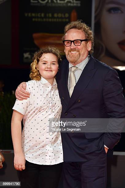 Actor Colm Meaney and Ada Meaney attend the premiere of 'The Journey' during the 73rd Venice Film Festival at Sala Grande on September 7 2016 in...
