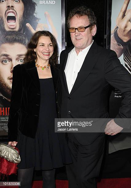 Actor Colm Meaney and Ines Glorian attend the premiere of Get Him To The Greek at The Greek Theatre on May 25 2010 in Los Angeles California