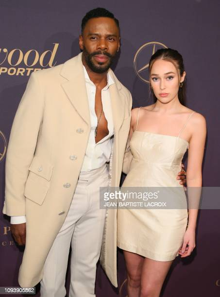 US actor Colman Domingo and Australian actress Alycia DebnamCarey attend the Hollywood Reporter's 7th Annual Nominees Night in Beverly Hills...