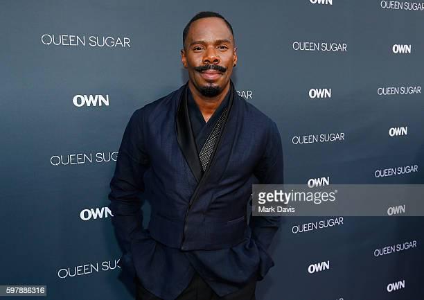 "Actor Colman Domingo attends OWN Oprah Winfrey Network's ""Queen Sugar"" premiere at the Warner Bros Studio Lot Steven J Ross Theater on August 29 2016..."