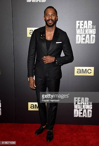 Actor Colman Domingo attends the premiere of AMC's 'Fear The Walking Dead' Season 2 at Cinemark Playa Vista on March 29 2016 in Los Angeles California