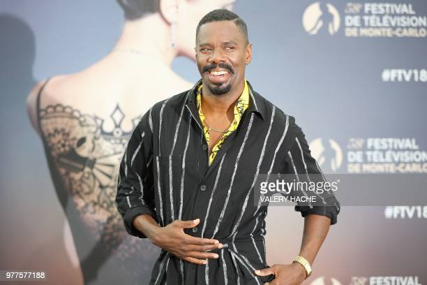 US actor Colman Domingo poses during a photocall for the TV show Fear the walking dead as part of the 58th MonteCarlo Television Festival on June 18...