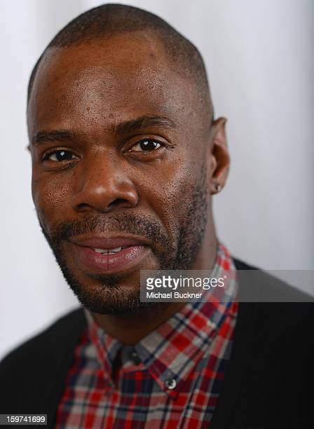 Actor Colman Domingo poses for a portrait at the Photo Booth for MSN Wonderwall At ChefDance on January 19 2013 in Park City Utah