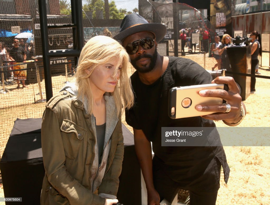 Actor Colman Domingo poses with a character replica at the 'Fear the Walking Dead' Autograph Signing for AMC At Comic Con 2017 - Day 3 on July 22, 2017 in San Diego, California.