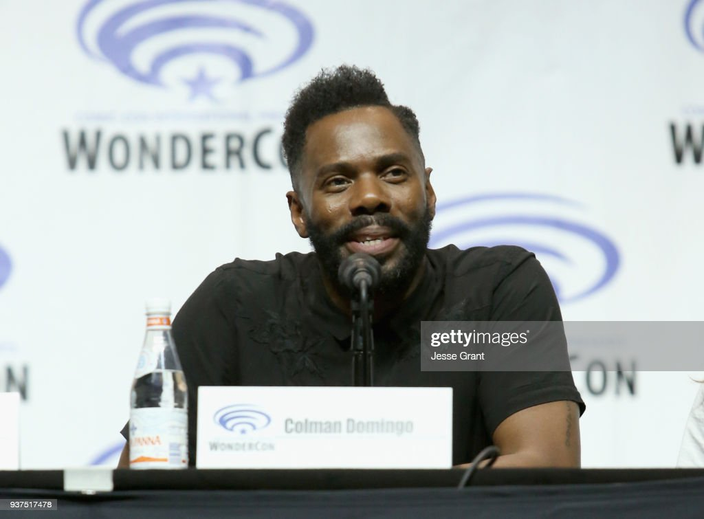 Actor Colman Domingo speaks onstage during AMC's 'Fear of the Walking Dead' panel at WonderCon at Anaheim Convention Center on March 24, 2018 in Anaheim, California.