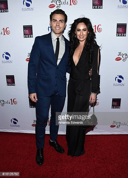Actor Colt Prattes and actress Angelina Mullins attend the National Breast Cancer Coalition Fund's 16th Annual Les Girls Cabaret at Avalon Hollywood...