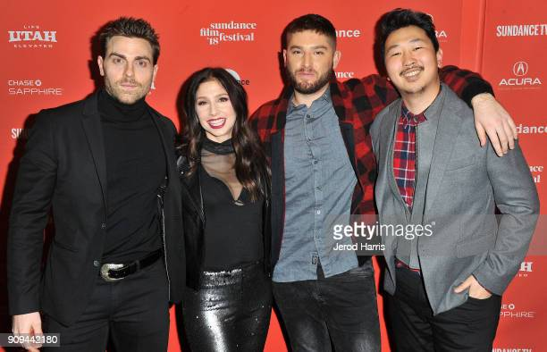 Actor Colt Prattes and creators/writers/actors Shoshannah Stern and Josh Feldman and filmmaker Andrew Ahn attend the Indie Episodic Program 2 during...