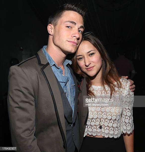Actor Colton Haynes and actress Zelda Williams attend Matthew Morrison's performance at The Sayers Club on June 12 2013 in Hollywood California