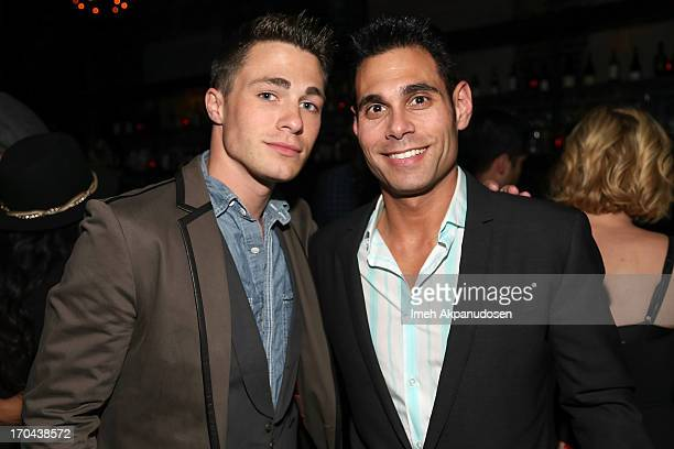 Actor Colton Haynes and Eric Podwall attend Matthew Morrison's performance at The Sayers Club on June 12 2013 in Hollywood California