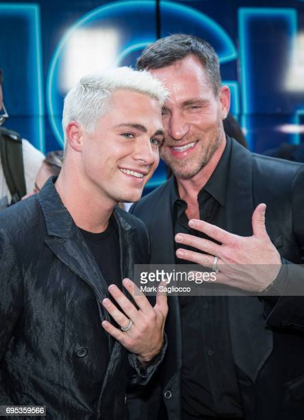 Actor Colton Haynes and Jeff Leatham attend the 'Rough Night' New York Premiere at AMC Lowes Lincoln Square on June 12 2017 in New York City