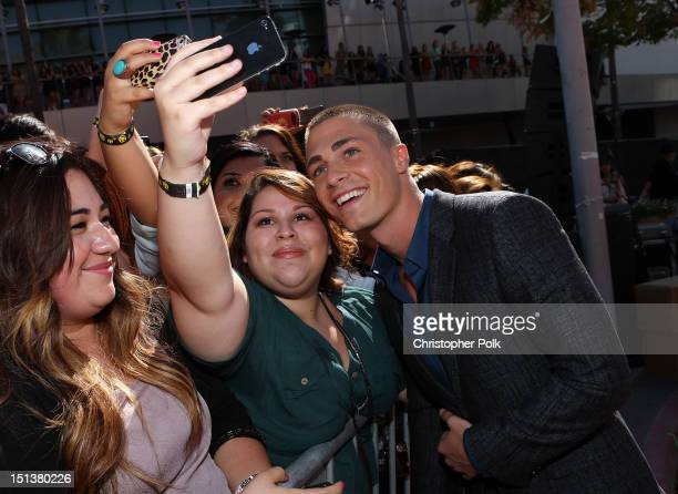 Actor Colton Haynes arrives at the 2012 MTV Video Music Awards at Staples Center on September 6 2012 in Los Angeles California