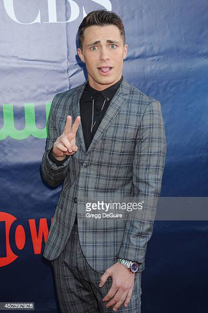 Actor Colton Haynes arrives at the 2014 Television Critics Association Summer Press Tour CBS CW And Showtime Party at Pacific Design Center on July...