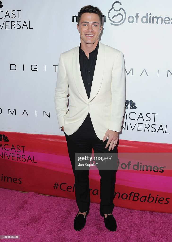 Actor Colton Haynes arrives at the 2015 March Of Dimes Celebration Of Babies at the Beverly Wilshire Four Seasons Hotel on December 4, 2015 in Beverly Hills, California.